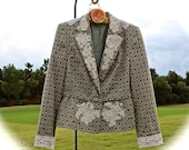 """1950""""s Vintage Style  Jacket Lovely and Unique Altered Couture OOAK Shabby Chic Beauty Size Large"""