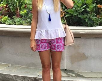 Caroline Dawn Printed Shorts