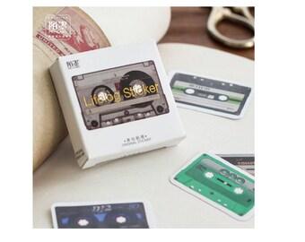 Diary Scrapbook Sticker Label Seal Cassette Tape (45 stickers)