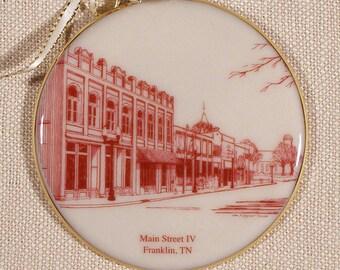Franklin, TN, Ornament, Main Street IV in Porcelain