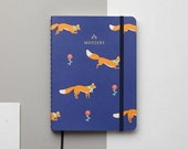 SALE 25% Jumping Foxes 2016 Gold Foil Personalized Planner