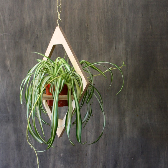 Modern Hanging Planter Mid Century Plant Stand Geometric