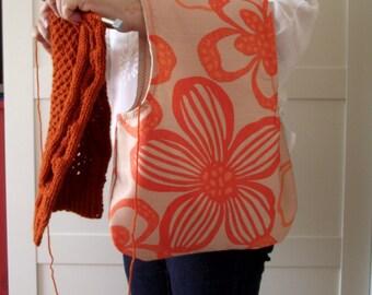 Wristlet Project Bag for Knitting Crochet Projects Wristlet Knitting Bag Yarn Bag Yarn Wrist Project Bag #15
