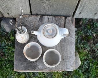 Frosty White Teapot