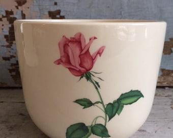 Vintage Universal Cambridge Pottery, bowl, Moss Rose, mint