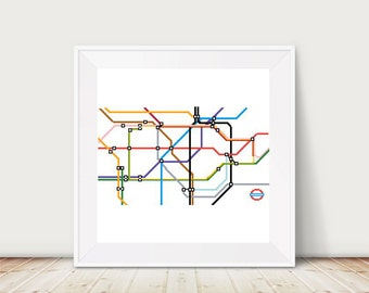 London Underground Tube Map Cross Stitch Pattern, PDF, DMC Threads, Instant Download