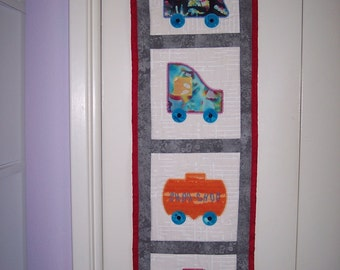 Train Quilted Wall Hanging