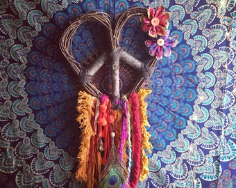BOHEMIAN DREAM Love Heart Wreath Peace Dream Catcher