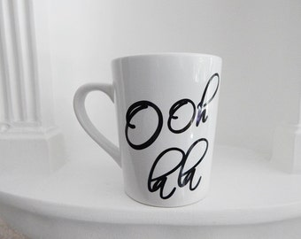 Ooh la la , 14. oz. coffee mug, Cups and Mugs, tea mug, coffee mugs, Gift Ideas, Christmas, Ooh la la coffee cup