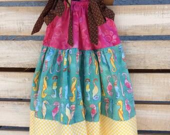 Seahorse Pink Pillowcase Dress