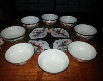 Phoenix and Dragon Gold Celebration Dishes