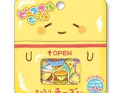 Cute Japanese stickers sack supplies, foodie theme sticker seal, CHEESE stickers - 71 pieces (1 pack) - 77528