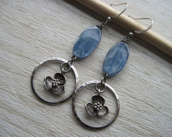 Kyanite and blossoms Earrings