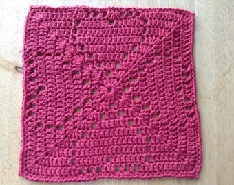 Love To Love Crocheted Dishcloth/Washcloth (READY TO SHIP!)
