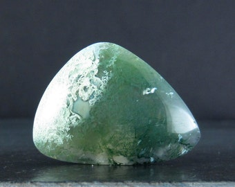 SALE stunning   Free form moss agate cabochon S6015