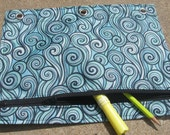 Binder or Pencil Pouch in Waves
