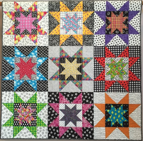 Seeing Stars wall quilt
