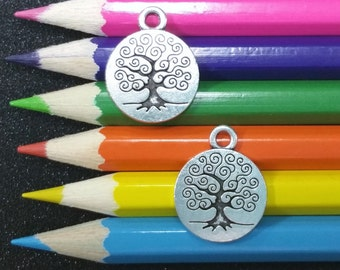 3 PCS - Tree Life Nautical Silver Charm Pendant C1161