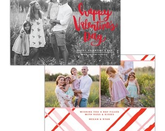 INSTANT DOWNLOAD - Valentine Photocard Template - e1256