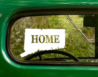 2 Connecticut Decals State Home Map Sticker For Car Truck Jeep Laptop Rv Bumper Bulk Window Laptop 4x4