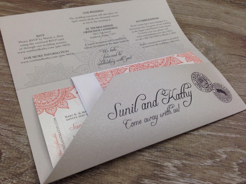 Destination Wedding Invitation Travel Theme Boarding Pass