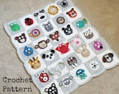 BABY BLANKET PATTERN Crochet Pattern Instant Download Pdf Tutorial - Zookeeper's Blanket - Animal Blanket Permission to Sell English Only