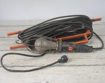 Vintage Industrial Shop Trouble Light Drop Works 660W 250V