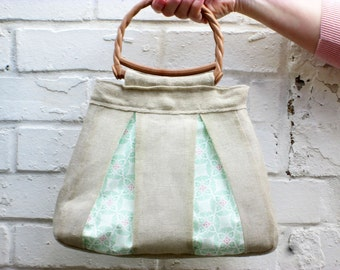 Burlap Bag PDF Pattern Digital Pattern PDF Sewing Pattern Handbag Evening Bag Small Bag Purse