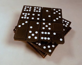 Domino Cork Coasters - Free US Shipping