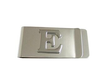 Monogram Letter E Money Clip