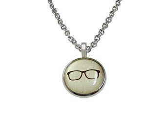 Hipster Glasses Pendant Necklace