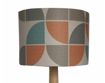 Retro 70s Style Geometric Wallpaper Lightshade Lampshade 35cm