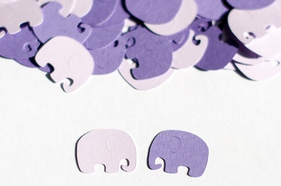 baby shower elephant confetti purple baby shower decorations