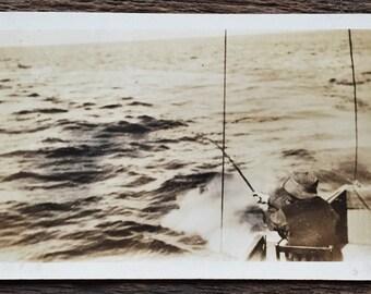 Original Antique Photograph Catching the Big One