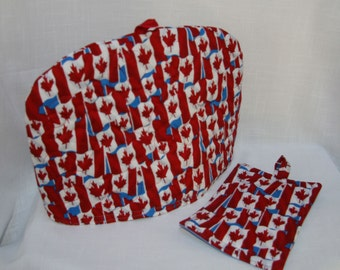 Canada Flag - Quilted Dome Tea Cozy with Tea Mat