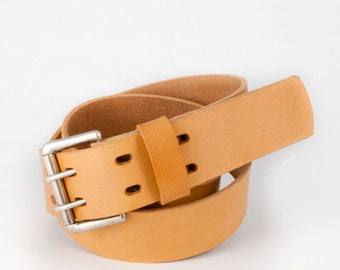 Double Prong Vachetta Belt