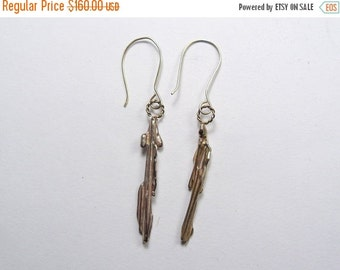 20% off: 14k Gold Designer Earrings a handmade one of a kind artistic pair.   Shipping discounts (j038)