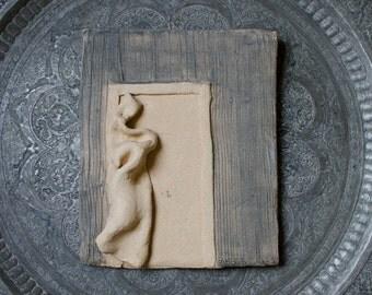 Vintage Joyce Newman Sculpture / Stoneware Art Pottery Plaque