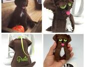 Pet memorial, pet portrait, dog portrait, felt cat ornament, pet owner gift, personalized gift, cat memorial ornament, crossing the rainbow