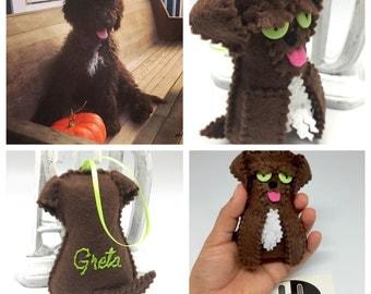 Custom Pet ornament, custom made dog ornament cat in felt, custom felt cat, personalized gift, cat memorial ornament, cat keepsakes decor