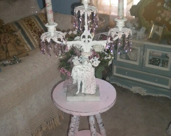SALE>>>>>>>>Simply FABULOUS  Large Ooak Candelabra, Shabby Chic, Victorian,French Country,Wedding