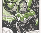 Green Lantern Sketch Card