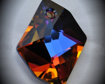 Large Genuine Rare Swarovski Crystal Volcano Cosmic Pendant Art 6680