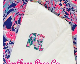Long Sleeve Pearls and Bows Republican Appliqued Tee