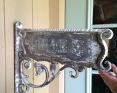 Vintage Cast Iron Address Plate Sign Cast Iron Salvage Farmhouse Salvage Cast Iron Sign Holder Display