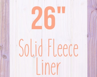 """Solid Fleece Cage Liner - 26"""" - Choose Your Size"""