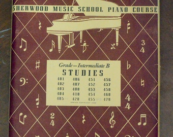 Vintage Sherwood Music School Piano Course *Free Shipping*