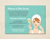 Mimosas & Mini Facials Invitation - Direct Selling - Business Launch Party - Network Marketing - Mini Facial Party - Digital File