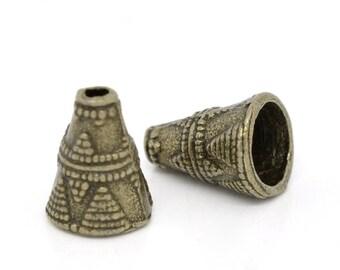 20 pcs Bronze End Bead Caps Fits Chain or Tassels Beads (BMB2737)