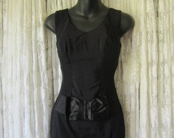 1950's Black Pin Up Bathing Suit 50's One Piece Bombshell Swimwear